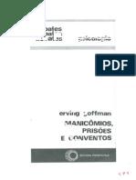 Texto 9. Goffman - Manicomios, prisões e conventos
