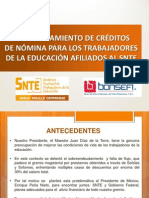 Programa Refinanciamiento Snte Bansefi