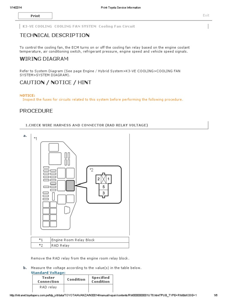 k3-Ve Cooling Cooling Fan System Cooling Fan Circuit | Relay | Electrical  Connector