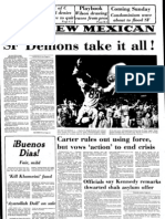 Headlines and Highlights from Santa Fe High School's 1979 run to the New Mexico state championship