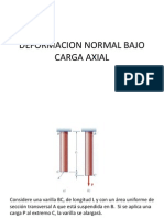 Deformacion Normal Bajo Carga Axial
