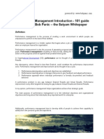 Performance Management 101 Guide by Bob Panic