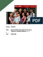 SCJA (Exam 310-019) Questions Exam
