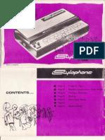 Original Stylophone Manual