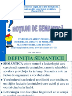Notiuni de Semantica