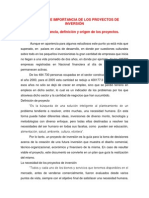 FEPI-UNIDAD 1,2--CONCEPTO E IMPORTANCIA DE LOS PROYECTOS DE INVERSIÓN