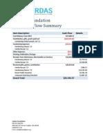 2013 Cashflow Summary