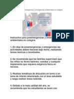 Instructivo Para Preemergencias y Emergencias Ambientales en Colegios 2011