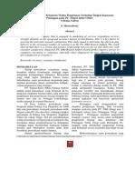 Pengaruh Faktor Ketetapan Waktu Pengiriman Terhadap Tingkat Kepuasan Pelanggan Pada PT. Titipan Kilat _TIKI_ C