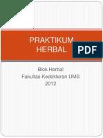 Asistensi Praktikum Herbal 2012