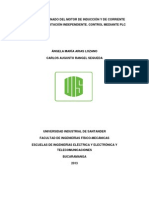 ARRANQUE Y FRENADO DEL MOTOR DE INDUCCIÓN Y DE CORRIENTE CONTINUA DE EXCITACIÓN INDEPENDIENTE. CONTROL MEDIANTE PLC.