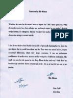 Statement by Shiv Menon (Sunanda Pushkar's son)