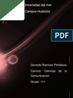 GERARDO RAMÍREZ PEÑALOZA REPORTE DE LECTURA