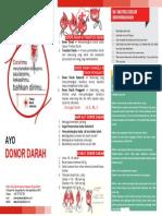 Brosur Donor Darah PMI Bengkulu Utara