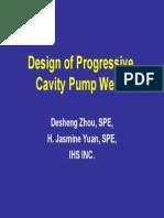 Design of PCP Wells