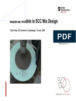 Material Models in SCC Mix Design
