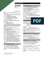UNIX ReferenceSheet