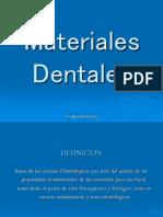 2da Clase Clasificacion de Los Materiales Dentales