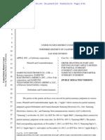 14-01-21 Apple v. Samsung Summary Judgment Order