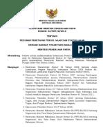 PermenPU 3 2012 Penetapan Fungsi Status Jalan