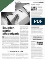 Ecuador patria alfabetizada
