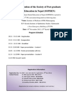 Final Schedule 4th PG Convention of the Society of Post Graduate Dental Education in Nepal