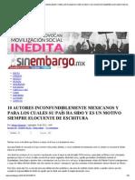 10 Mejores Autores Mexico