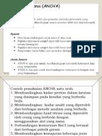 Statistika Farmasi 8 Analisis Variansi Satu Arah