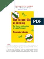 Natural Way Of Farming - Masanobu Fukuoka Green Philosophy