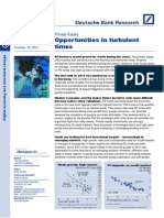 Opportunities During Turbulent Times