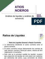 Ratios Finacieros - Liquidez