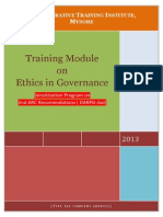 Ethics in Governance 2nd ARC