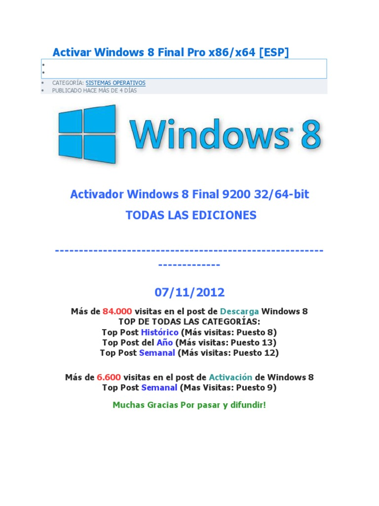 descargar activador windows 8 1