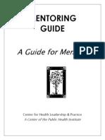 Mentoring Guide for Mentors