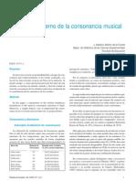 Concepto Moderno de La Consonancia Musical