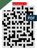 Genesis 1 Crossword KEY