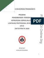 contoh Borang DPU