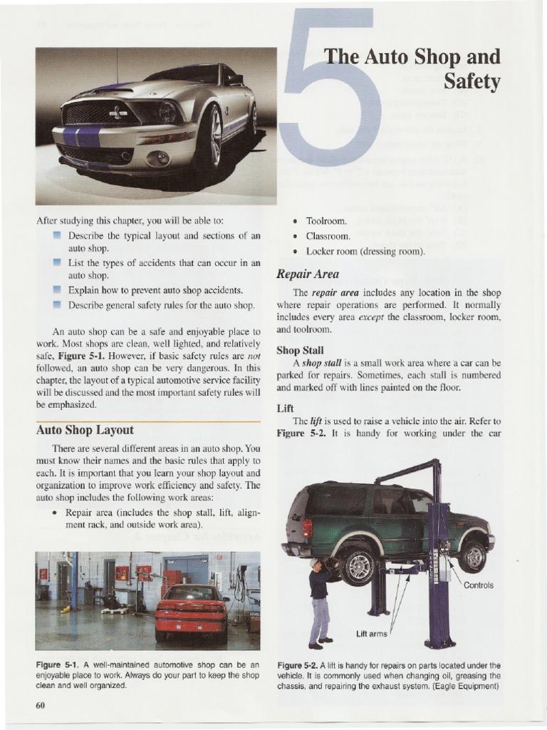 Auto Shop Safety Explosion High Voltage