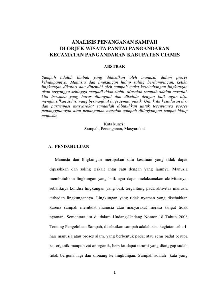 Contoh Tesis Tentang Sampah Contoh Soal Dan Materi Pelajaran 7
