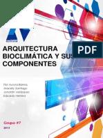 Arquitectura Bioclimática instalaciones