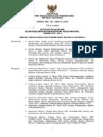 Kepmenakertrans No 372 Th 2009 Ttg Petunjuk Pelaksanaan Bulan Keselamatan Dan Kesehatan Kerja Nasional Tahun 2010 - 2014