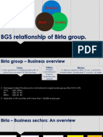 BGS Relationship of Birla Group