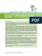 2013 Public Health Training Catalogue