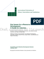 Ifla Electronic Resource Guide Draft for Comment
