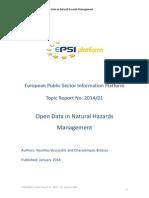 Open Data in Natural Hazards Management