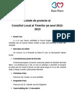Listele de Proiecte Al CLT
