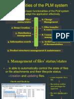 PLM(PDM) Functionalites