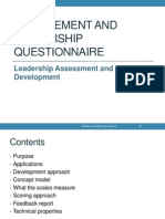 2012 Management and Leadership Questionnaire
