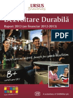 Ursus Breweries - Raport Dezvoltare Durabila 2013 Romana