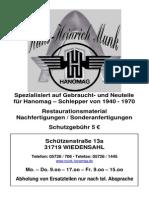 Hanomag Schlepper Katalog 2009